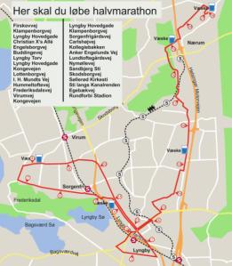 BT Halvmarathon - Ruten 2014 - jegerlober.dk